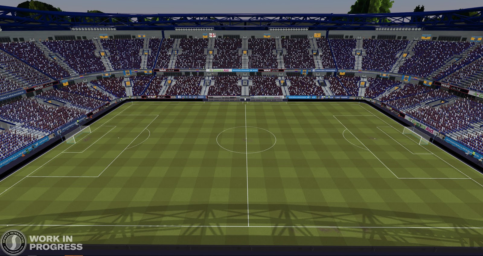 A dry pitch in Football Manager 2020
