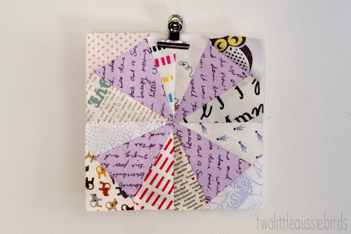 http://twolittleaussiebirds.blogspot.co.uk/2014/05/posy-flower-quilt-block-tutorial.html