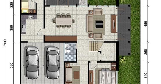 LINGKAR WARNA: Denah rumah minimalis ukuran 15x21 meter 5 ...