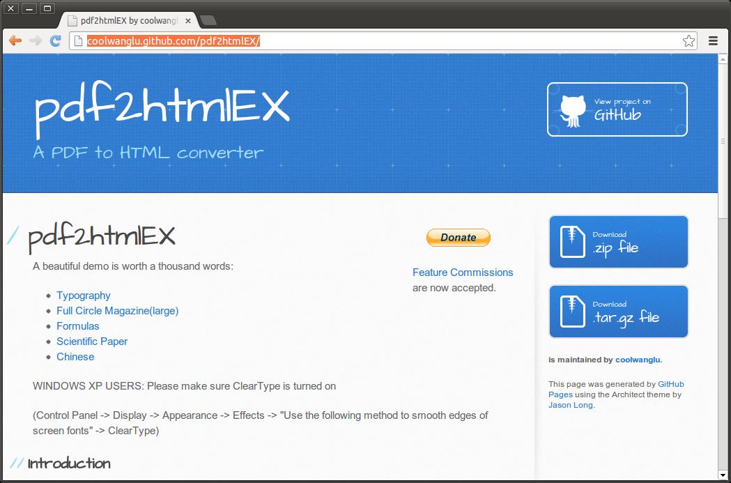 Commands pdf html