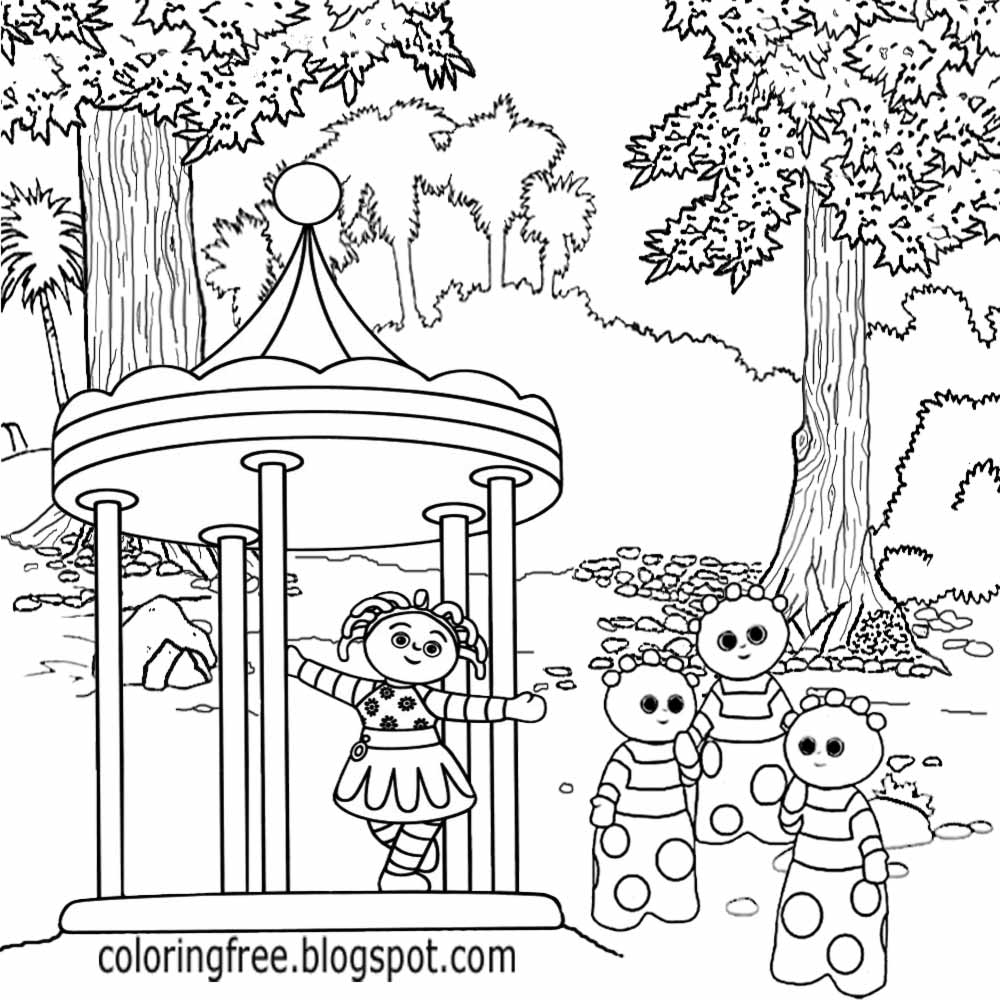 night garden coloring pages print - photo #41