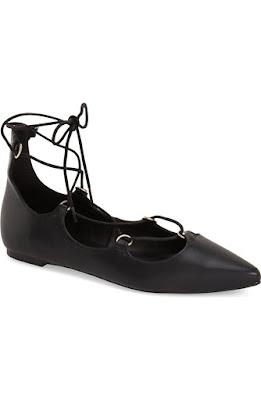 wiązane buty l czarne baleriny l skórzane obuwie