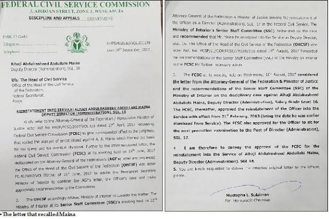 REVEALED: How AGF Malami ordered Maina's recall(photo)