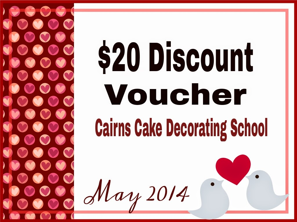 Cairns Cake Decorating School Workshop Lessons Discount Voucher