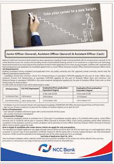 ncc bank job apply