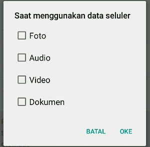 settingan aplikasi WhatsApp