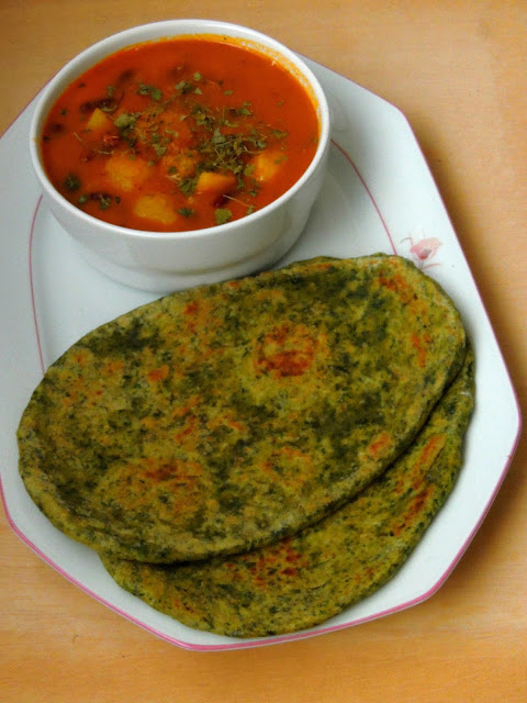 Palak Naan, Spiced Spinach Naan Bread