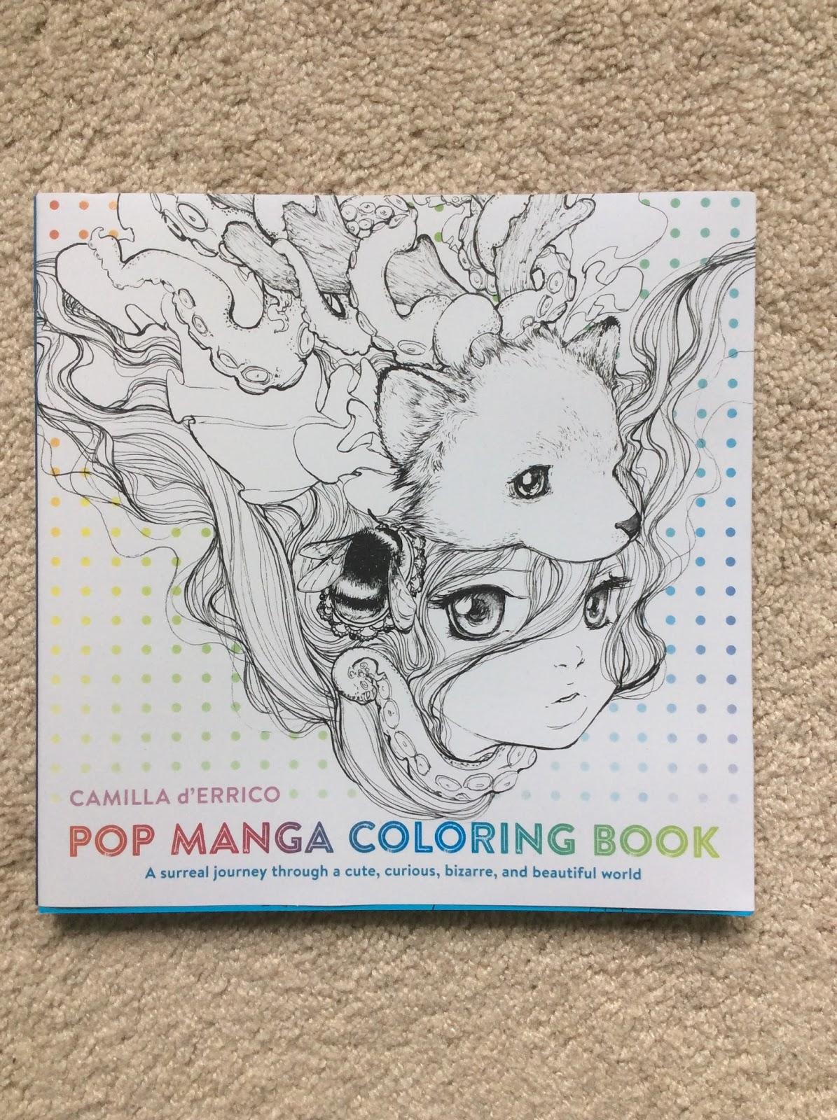 Nesca's Nook: Pop Manga Coloring Book by Camilla d'Errico