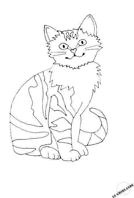 Free digital cat stamp Gattino su Foglie d'Autunno
