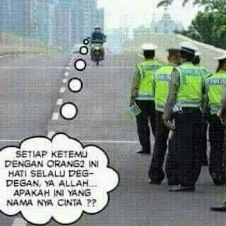 razia polisi di jalan raya