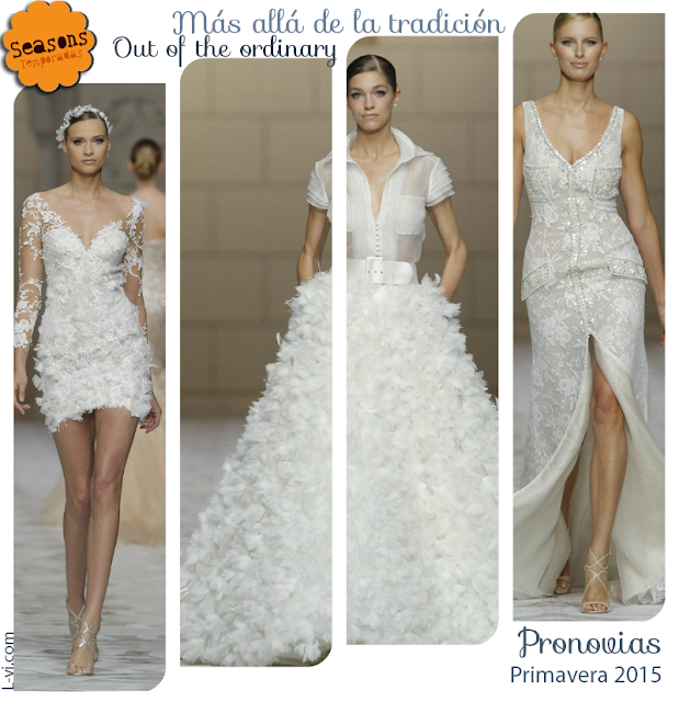 [SS15] Bridal dresses:Dresses out of the ordinary./ Vestidos de novia más allá de la tradición. L-vi.com