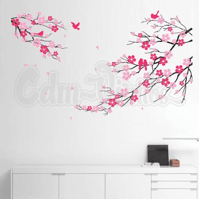 vinilo rama flor cerezo arbol sakura blossoms