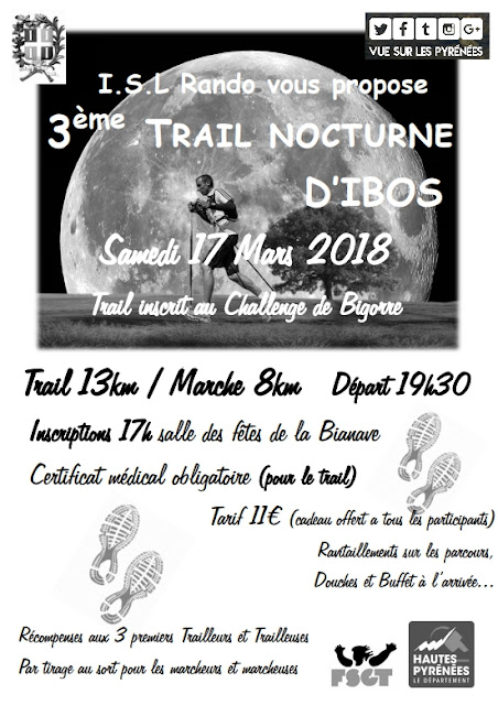 Trail Nocturne d'IBOS 2018
