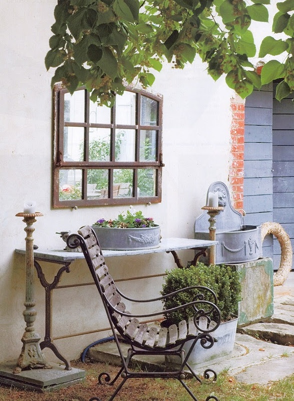 Take Five: Vintage Outdoor Decor - The Cottage Market on Garden Decor Ideas  id=48387