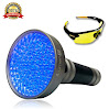 Extra Bright- UV Black Light Flashlight by iLumen8, 100 LED (Latest Super High-Flux) Blacklight. Powerful 35ft beam detect Pet Urine, Scorpions, Human fluids bed bugs mold. Bonus UV Safety Glasses