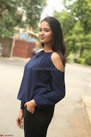 Poojita Super Cute Smile in Blue Top black Trousers at Darsakudu press meet ~ Celebrities Galleries 063.JPG