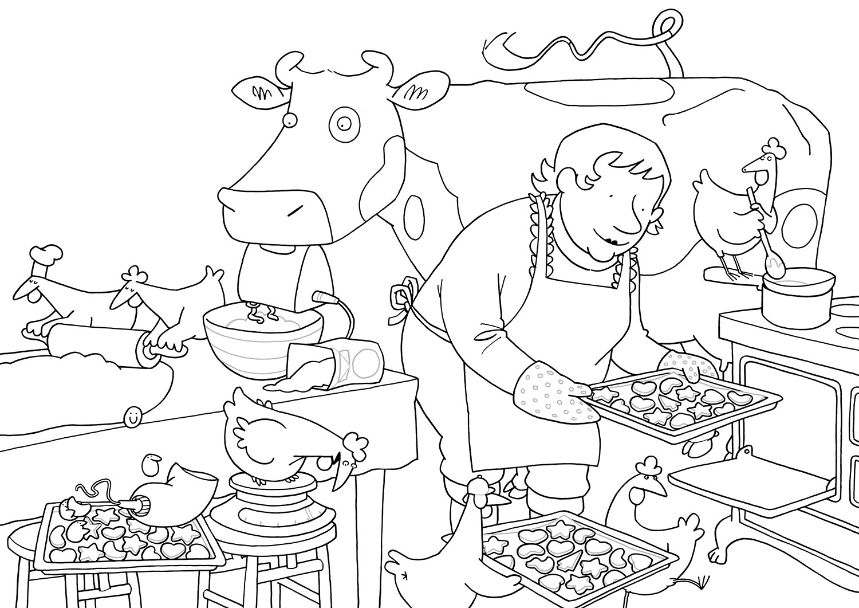 weihnachtsbäckerei malvorlagen  Coloring and Malvorlagan