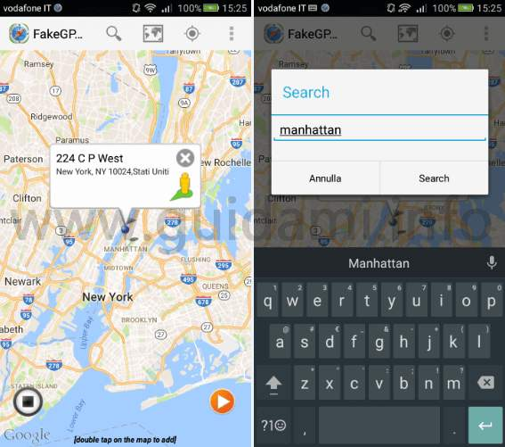 Fake GPS Location Spoofer app Android