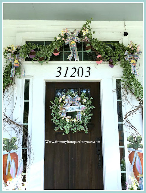 Spring Easter Front Porch-Front Door-Grapevine-DIY-From My Front Porch To Yours