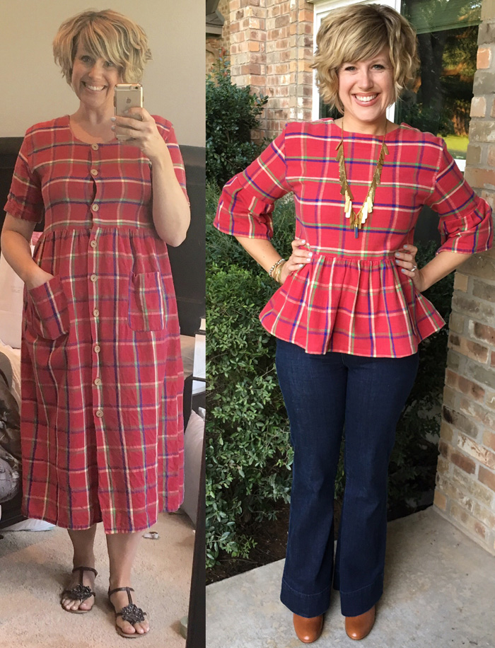 Thrifty Thursday - a plaid refashion for fall