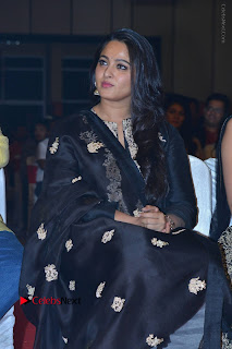 Actress Anushka Anushka Shetty Stills in Black Salwar Kameez at Om Namo Venkatesaya Audio Launch Event  0024.JPG