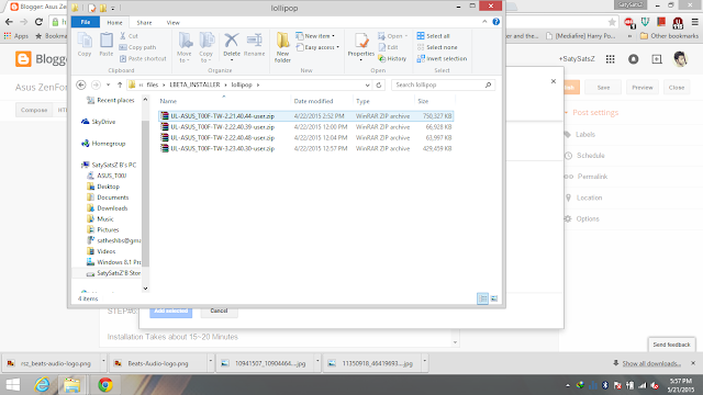 Lollipop Beta Easy Installer for ASUS Zenfone 5   Tecky World