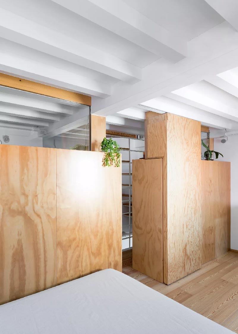pareti divisorie in legno Cyan House