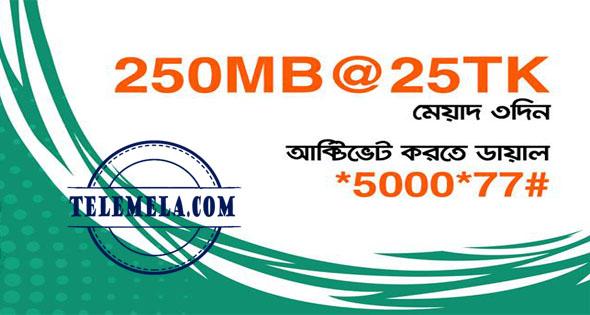 Banglalink 250 MB Internet 25TK Offer
