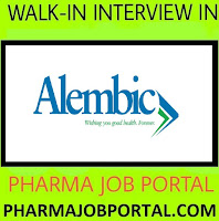 Alembic Pharmaceuticals Ltd  Walk In Interview For M.Pharm, B.Pharm, D.Pharm, B.Sc, ITI at 2 September