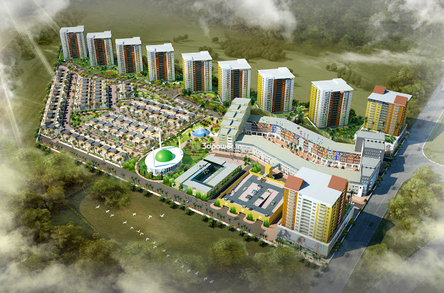 3D Township Project Rendering