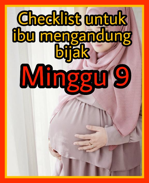 Checklist Aktiviti Untuk Ibu Mengandung Bijak. Minggu 9