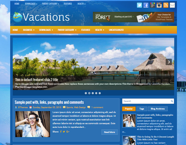 Vacations Beautiful, 2 Columns, Travel Blogger Template                                                                                                                                                                                                 http://blogger-templatees.blogspot.com/