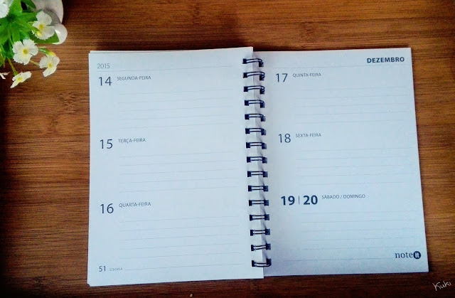 Agenda com vista semanal