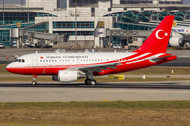 Türkiye Cumhuriyeti başkanlık uçağı Airbus A318 TC-ANK
