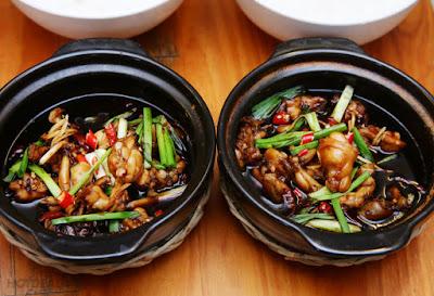 Huong dan cach lam mon chao ech Singapore ngon