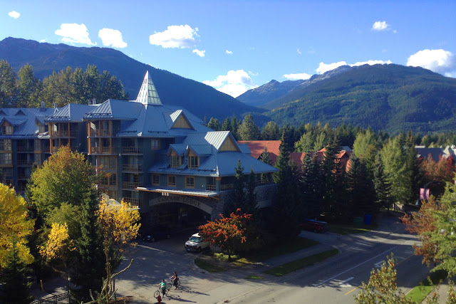 View from our room at the Delta Whistler Village Suites, BC British Columbia