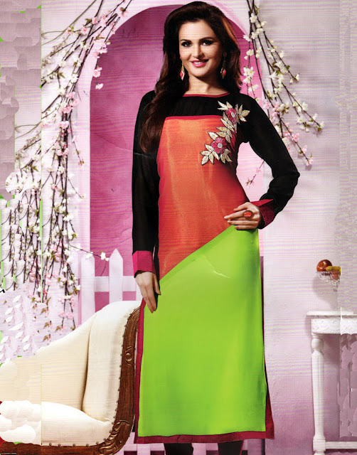 Latest Design of Georgette Kurtis 2015