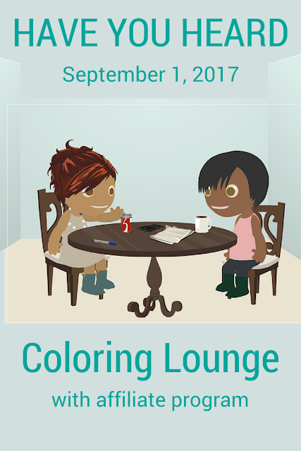 Coloring Lounge launching 9/1/2017 15 FULL coloring books are going to be available for download!