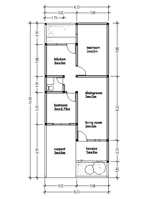 HOUSE PLANS 6X14.5 | Bedroom Furniture Ideas