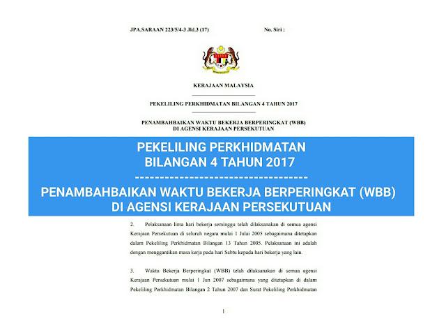 Penambahbaikan Waktu Bekerja Berperingkat Wbb Penjawat Awam 2018 Berita Malay Hari Ini