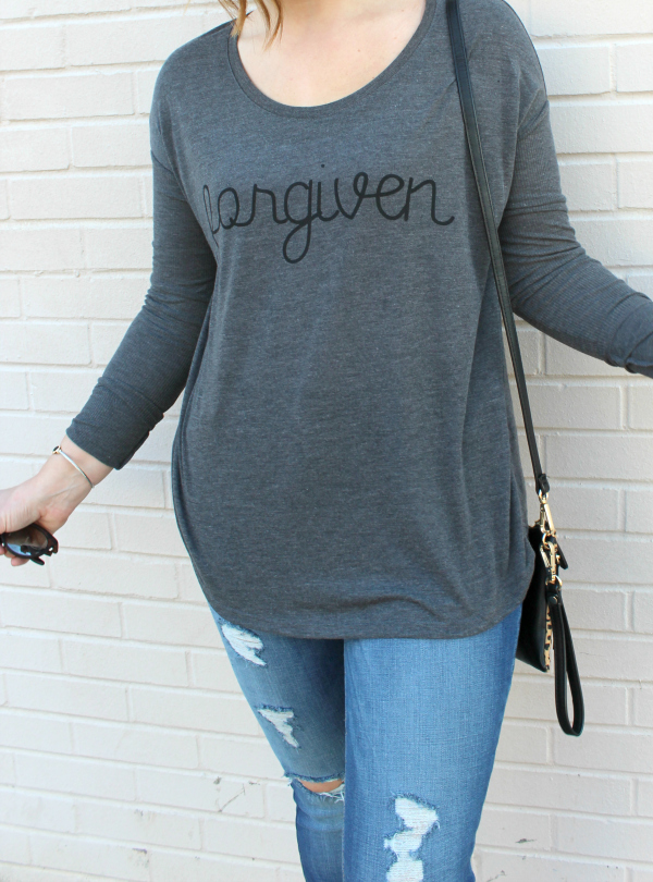 mom style, christian tee, shine your light, style on a budget, mom blogger