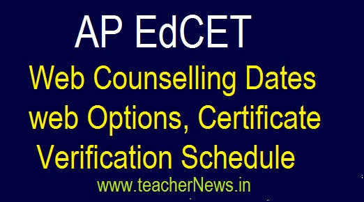 AP EdCET Web Counselling 2019 | AP B.Ed web Options, Certificate verification Dates
