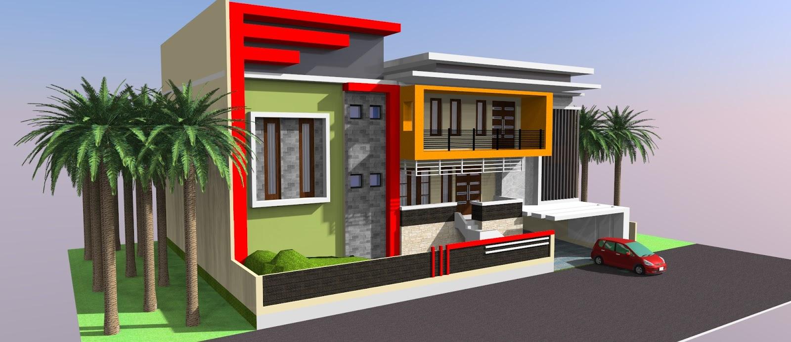 belajar ILLUSTRATOR Jasa Desain Rumah 2D 3D minimalis modern