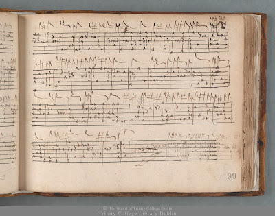 Lute tablature: Thomas Dallis Lute book, Trinity College Dublin, MS 410/1