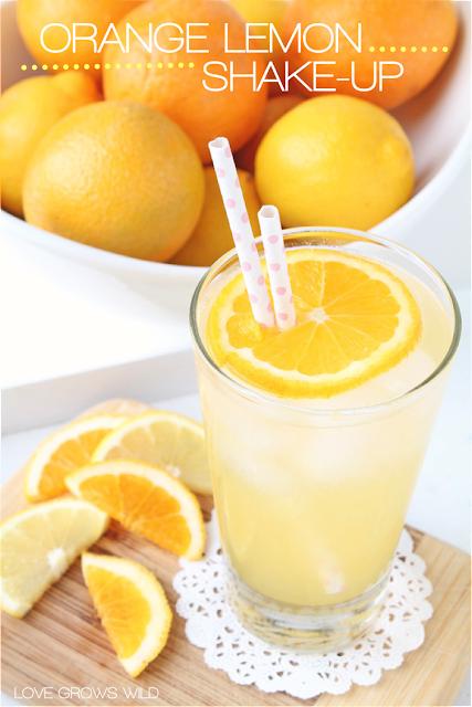 Orange Lemon Shake-up - a refreshing new twist on a classic Summer drink! via LoveGrowsWild.com #beverages #orange