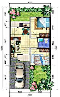 Denah untuk Membuat Desain Rumah Minimalis 2 Lantai Asri dengan Dana Minim