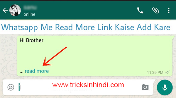 Whatsapp Read More Link Kaise Lagate Hain