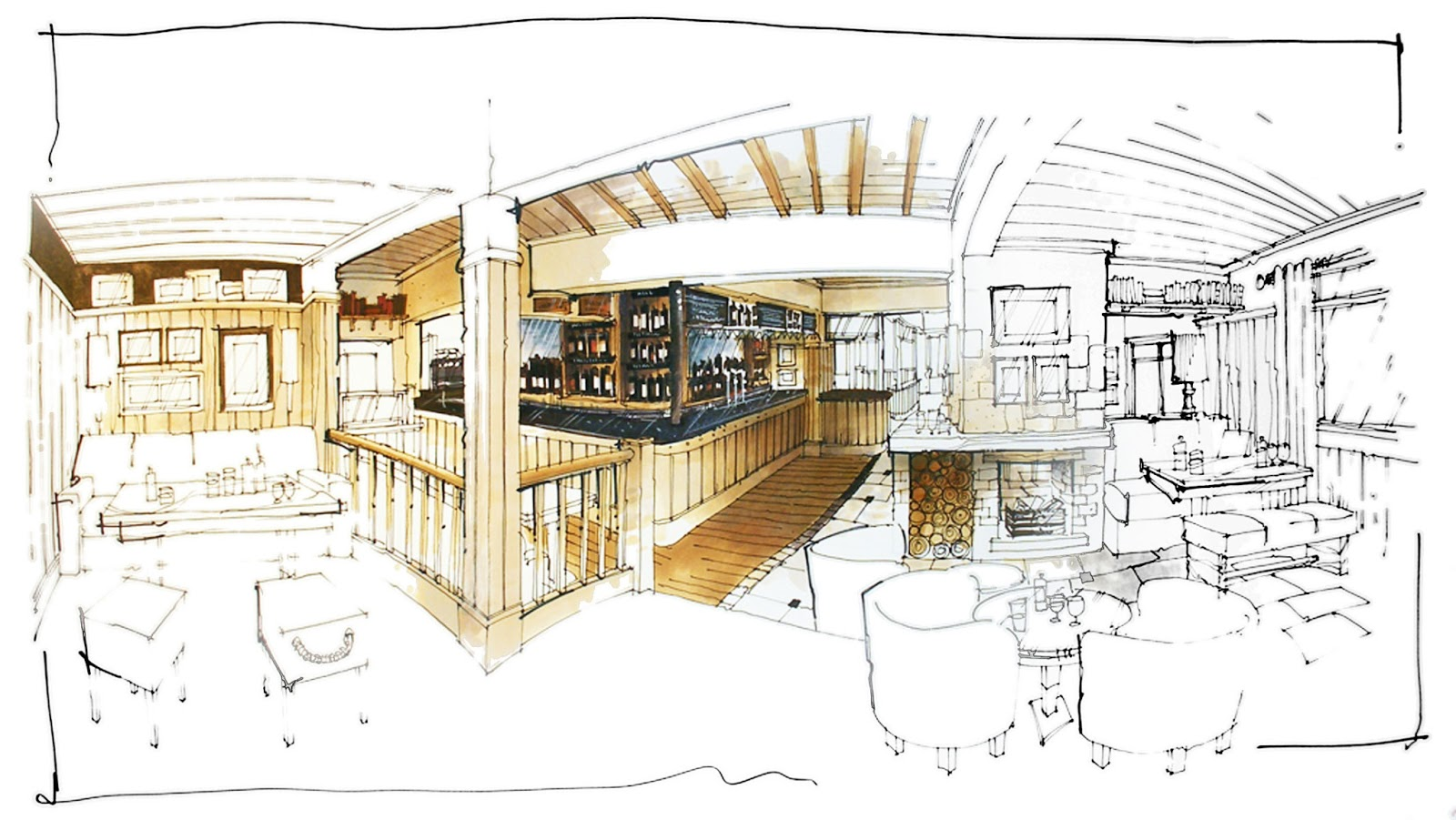 David Dangerous Interior Design Illustrations