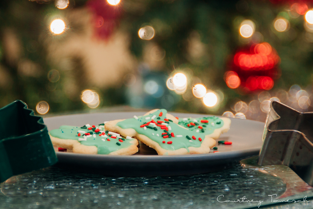 Courtney Tomesch Vegan Holiday Treats Sugar Cookies with Icing