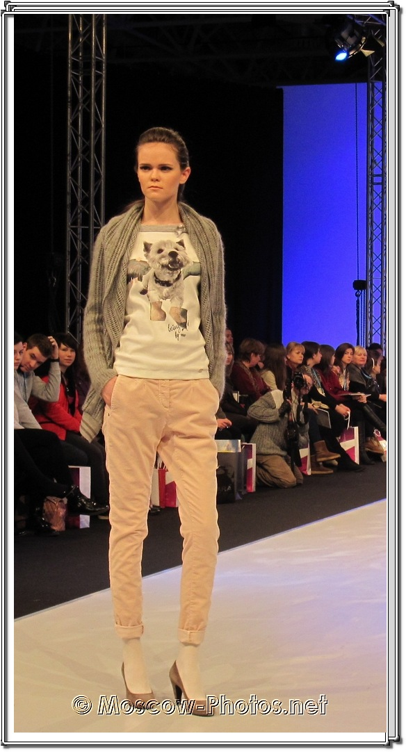 Fashion Model In Rolled Pants.  Collection Premiere Moscow 2012